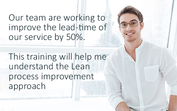 Image of man discussing how Lean training has helped his team