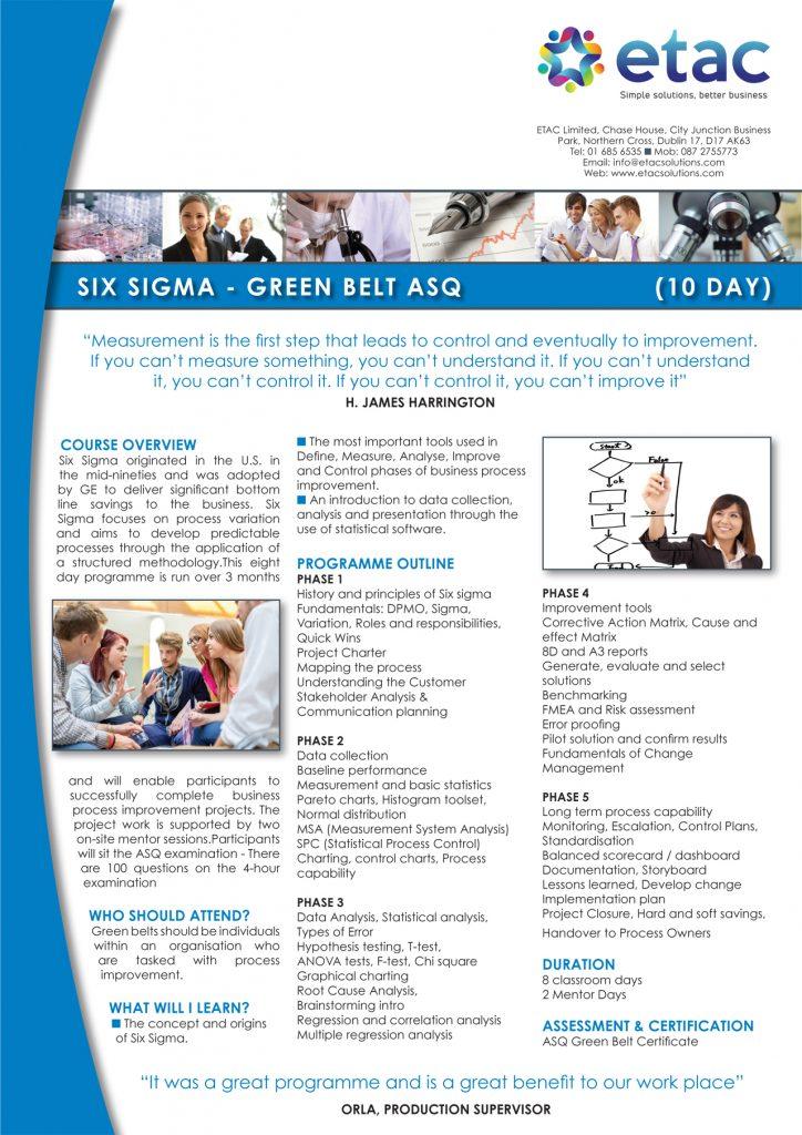 Six Sigma green, six sigma